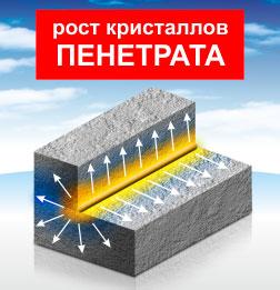 Гидроизоляция - рост кристаллов Пенетрата